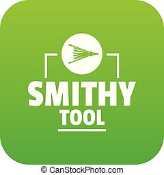 Smithy tool icon green vector isolated on white background