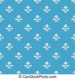 Smithy tool pattern vector seamless blue repeat for any use