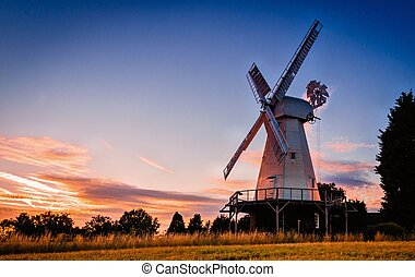 Smock Mill - Kentish smock mill at dusk
