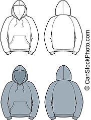 Smock - Vector illustration of men's hooded jacket. Front ...