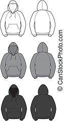 Smock - Vector illustration of smocks. Front and back views...