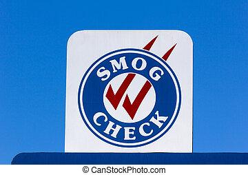 smog, chèque, signe