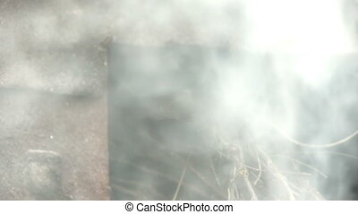smog from furnace slow motion