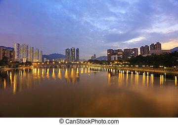smog pollution in Sha Tin, Hong Kong