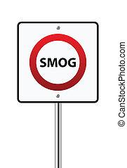 Smog sign