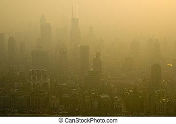 smoggy, shanghai