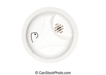Smoke Alarm - A new, isolated home smoke and fire alarm with...