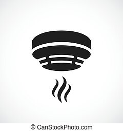 Smoke alarm system vector symbol on white background