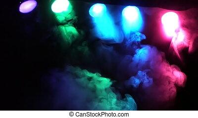 SMOKE AND CONCERT STAGE LIGHTS