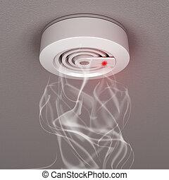 Smoke and fire detector with smoke