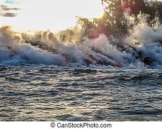 Smoke and steam ok Kilauea