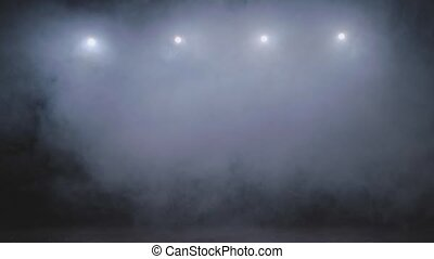Smoke and the bright lights of the stage - Smoke and bright...