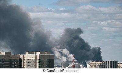 Big fire at building.