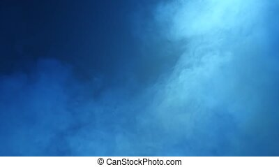 Smoke background and shines floodlights - Smoke background...