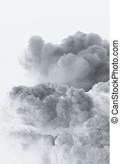 smoke cloud explosion shape