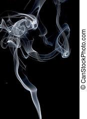 Smoke - Cloud of smoke on black background