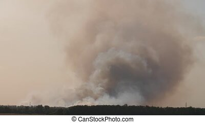 Smoke clouds after explosion - Huge smoke clouds after...