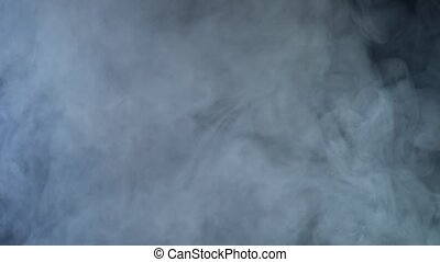 Smoke clouds fog overlay perfect black background -...