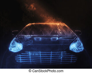 Smoke compact car