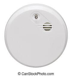 smoke detector - a smoke alarm in white back