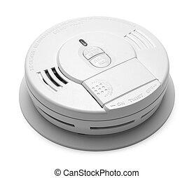 Smoke Detector - Round Plastic Smoke Detector Fire Alarm...