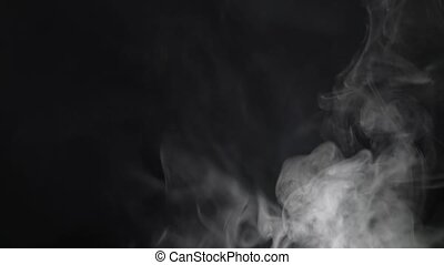Smoke fills the screen on a black background