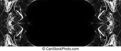smoke frame on black background