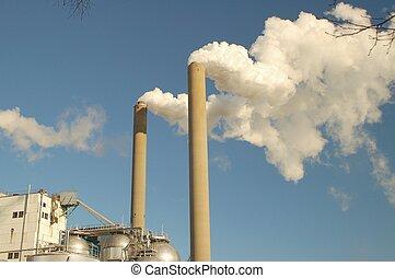 chimney - smoke from a chimney
