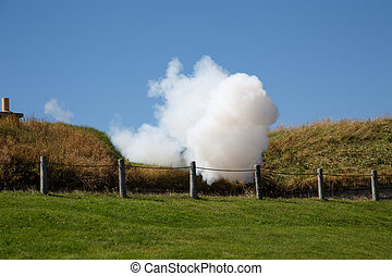 Smoke from Cannon Fire