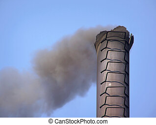 smoke from pipe