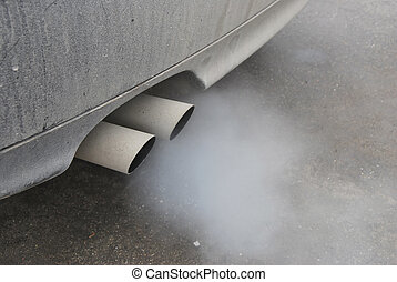 Smoke from the exhaust pipe