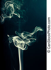 smoke from the incense stick aroma
