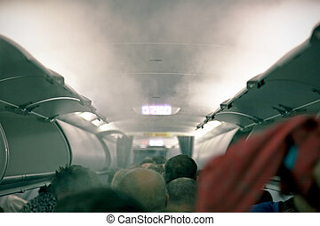 smoke in the aircraft - smoke in the cabin of passenger ...