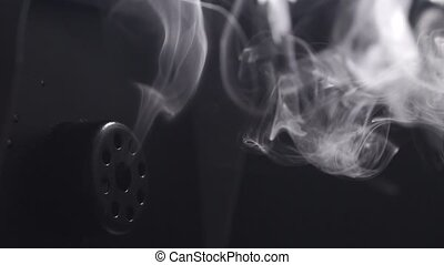 Smoke machine in action, slow motion video clip