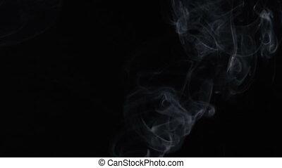 Smoke of aroma stick, video - White smoky cloud of aroma...