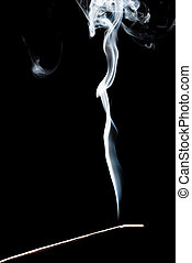 Smoke On a Black Background, in Studio