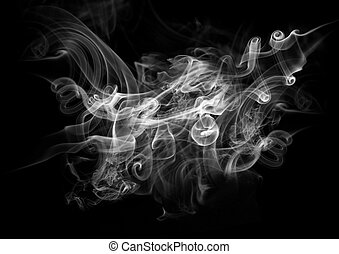Smoke On A Black Background - Smoke on a Black Background.