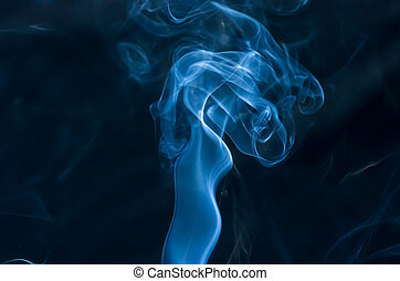 Smoke on a dark background