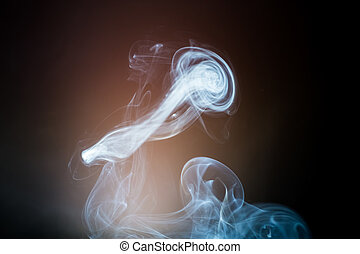 Smoke on a dark background