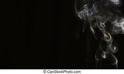 smoke on dark background