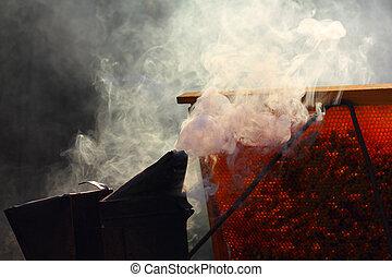 Smoke on the apiary