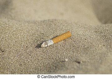 smoke on the beach