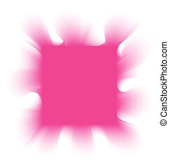 smoke pink square on a white background