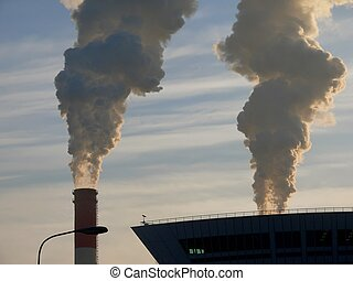 Smoke. Pipe. Pollution.