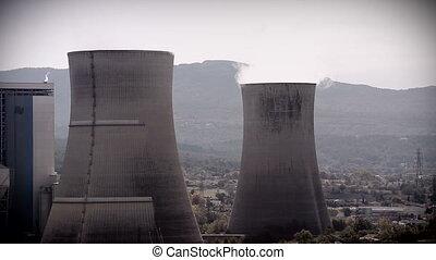 Smoke Pollution From Power Plant - Smocking Smokestacks From...