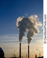 smoke., pollution., pipe.