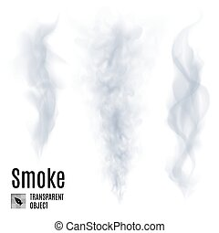 Smoke - Set of transparent smoke on white background for...