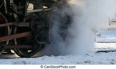 smoke steam locomotive