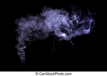 Smoke - Studio shot of  color smoke on the black baclground