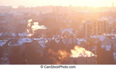 Smoke sun roof city